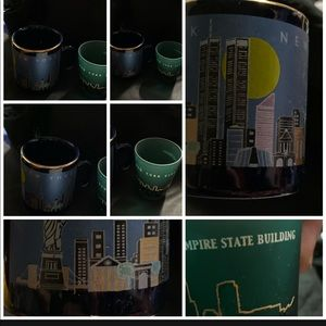 Other - NY Empire State building shot glass twin towers
